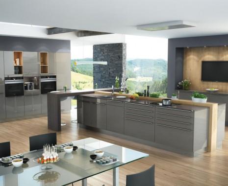 EWE Küchen Modell Dura in Farbe Quarz